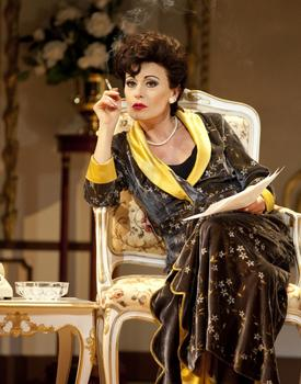 Tracie Bennett as Judy Garland in 'End of the Rainbow.'