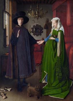 Van Eyck's The Arnolfini Wedding, 1434, oil on wood panel