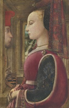 Fra Filippo Lippi (Florence, ca. 1406-1469, Spoleto).  Portrait of a Woman and a Man at a Casement