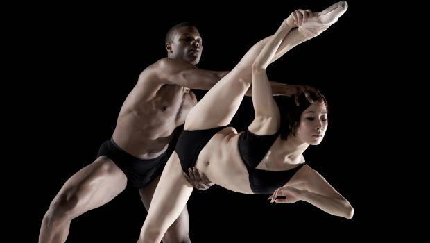 "Armitage Gone! Dance; ""Three Theories"" Pictured: Marlon Taylor-Wiles, Masayo Yamaguchi"