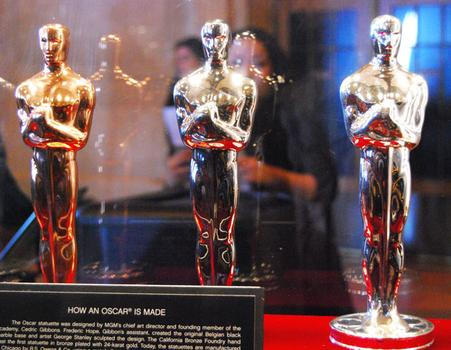 Movie buffs can get up close and personal to the statuettes.