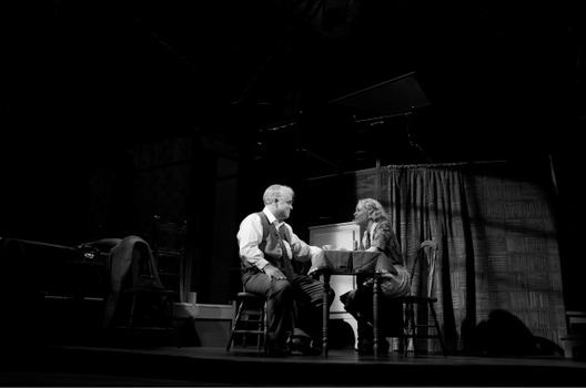 Philip Seymour Hoffman and Linda Emond in Arthur Miller's 'Death of a Salesman,' directed by Mike Nichols.