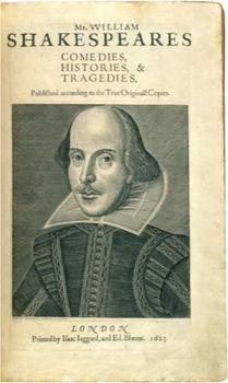 It is thought that all future depictions of Shakespeare (many of which were created after his death) were based on Cobbe's depiction, such as this print, from 1623.