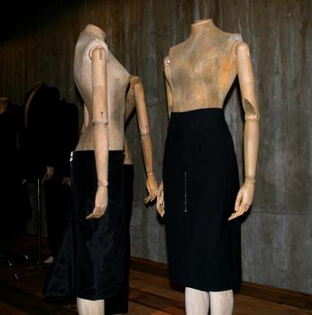 "McQueen's ""bumster"" bottoms look, also part of the ""Romantic Mind"" section."