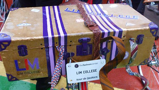 The Lim College, a fashion business university in Manhattan, kitted out its bike with a weathered suitcase.