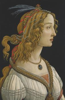 "Sandro Botticelli (Florence, ca. 1444-1510, Florence).  Ideal Portrait of a Lady (""Simonetta Vespucci"")"