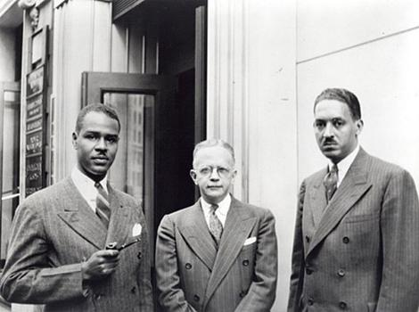 Roy Wilkins, Walter White, and Thurgood Marshall, between 1940 and 1950.