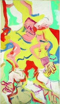 An untitled work by De Kooning, painted sometime between 1970 and '74. This period represented a return to figuration after a decade spent painting pure abstraction.