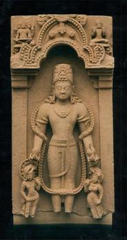 In an exhibit that opens this week, the Brooklyn Museum is telling the story of Vishnu, a Hindu deity identified with the preservation of life. Shown here: a sandstone stele from the 7th century.
