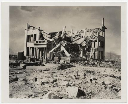 [Ruins of Chugoku Coal Distribution Company or Hiroshima Gas Company], November 8, 1945.