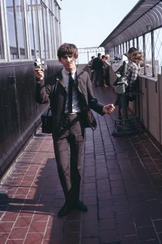 George Harrison New York with videocamera in hand