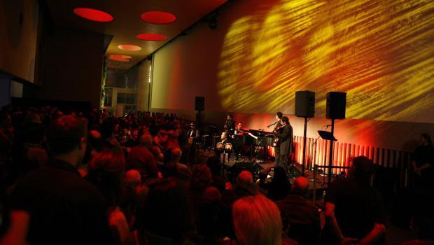 Sexteto Roberto Rodriguez Cuban-Jewish All Stars at a community preview of the David Rubenstein Atrium