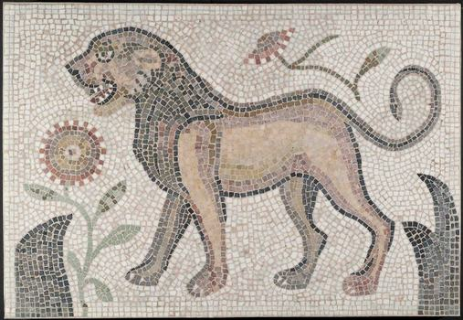 The Metropolitan Museum is gathering works produced on the southern side of the Byzantine Empire during the rise of Islam. Seen here: a sixth century mosaic of a lion from the Hammam Lif Synagogue.