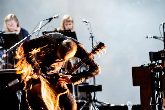 Sigur Rós, performing at Celebrate Brooklyn in Prospect Park.