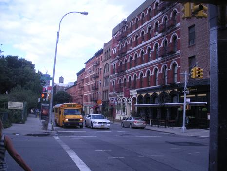 Buildings located along western side of LaGuardia Place.