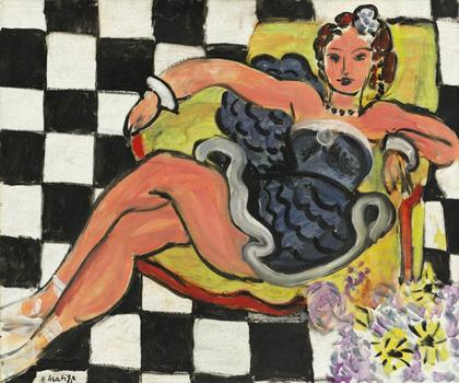 Henri Matisse's <em>Danseuse Dans Le Fauteuil, Sol en Damier</em> sold for $20,802,500. Its estimated worth was between $12 and $18 million.