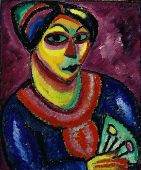 "Also for sale on May 3 is Alexej von Jawlensky's ""Frau mit grünem Fächer (Woman with a green Fan)."" The painting is expected to sell for up to $12 million."