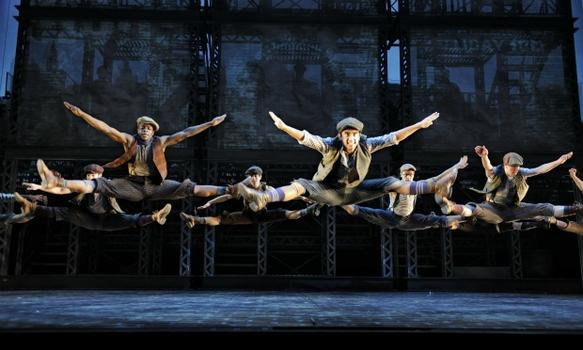 Some of the moves in 'Newsies.'
