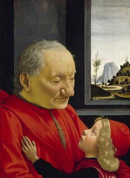 Domenico Ghirlandaio (Domenica Bigordi; Florence, 1448/49-1494, Florence).  Portrait of an Old Man and a Boy