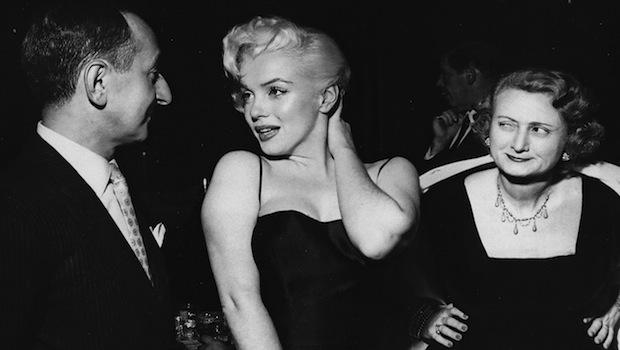 Leonard Lyons and his wife with Marilyn Monroe, circa 1955.  This may have been a posed shot, since my mother adored Marilyn Monroe, but it depicts the sentiments of every man everywhere.