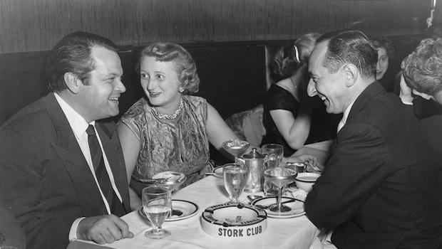 Jeffrey Lyons' parents with Orson Welles at the Stork Club