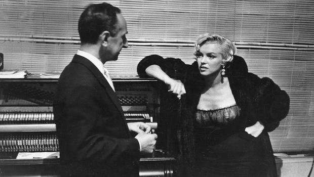 Leonard Lyons with Marilyn Monroe, circa 1960.