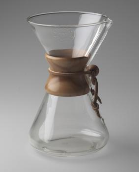 Peter Schlumbohm (American, born Germany. 1896-1962). Chemex Coffee Maker. 1941.