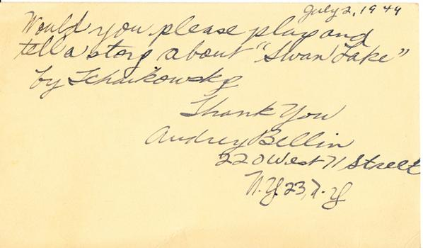 Audrey Bellin - July 2, 1949 (postmark)
