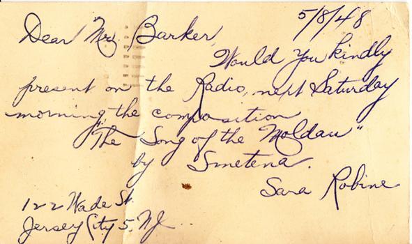 Sara Robine - May 8, 1948 (postmark)