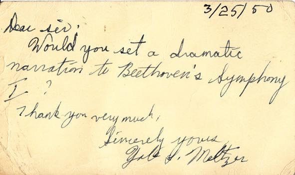 Yale Meltzer - March 25, 1950 (postmark)