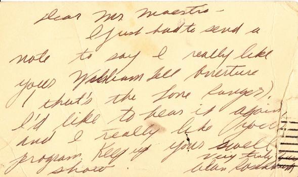 Alan Rosenbaum - November 26, 1947 (postmark)
