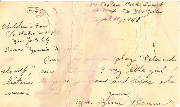 Sylvia Romm - April 12, 1948 (postmark)