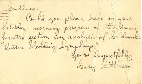Gary Gittleson - May 8, 19?? (postmark)