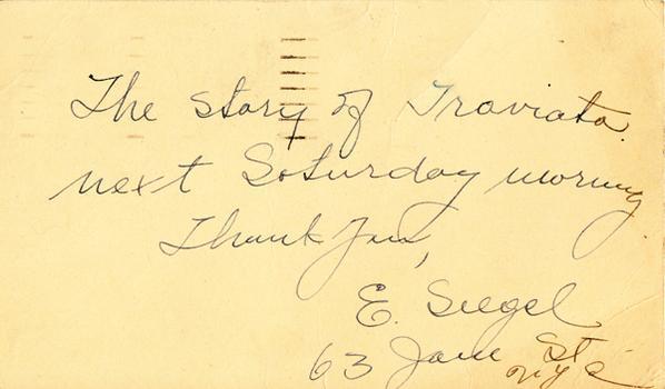 E. Siegel - February 26, 1949 (postmark)