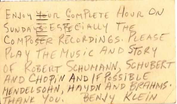 Benjy Klein - April 19, 1948 (postmark)