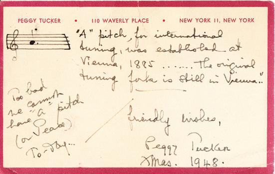 Peggy Tucker - December 18, 1948 (postmark)