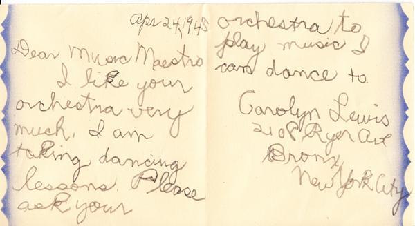 Carolyn Lewis - 1948 (postmark)