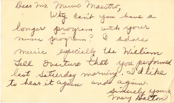Mary Dalton - November 25, 1947 (postmark)