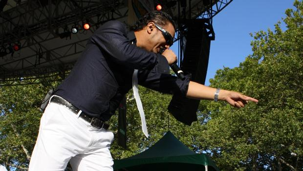 Andy Andy performs at the New York City Bachatafest in Central Park on August 14.