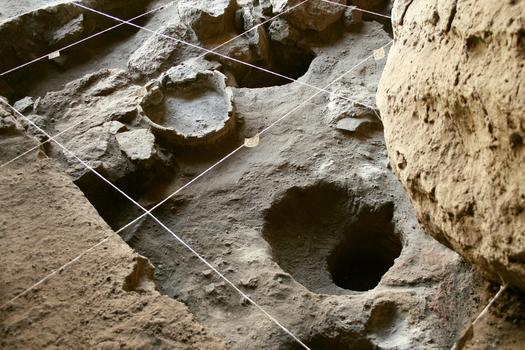 The cave pit where the 5,500 old shoe was found in Armenia