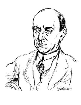 A Friedman drawing of composer Arnold Schoenberg.