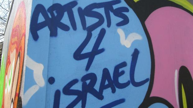 An organization called Artists 4 Israel organized the installation with funding from a Birthright Israel alumni association.