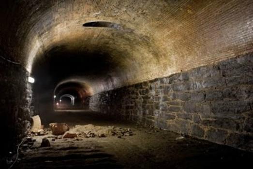 Unused tunnel under Atlantic Avenue in Brooklyn.