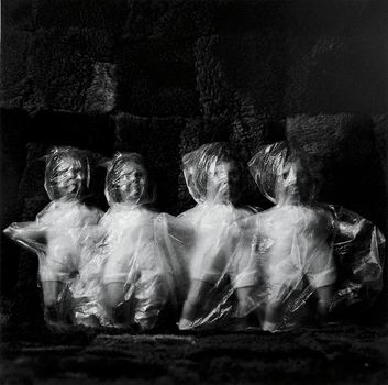 Liu Xia's series, which is untitled, shows the dolls being bound and suffocated -- no doubt a statement on the imprisonment of her husband, Nobel Prize winner Liu Xiaobo.