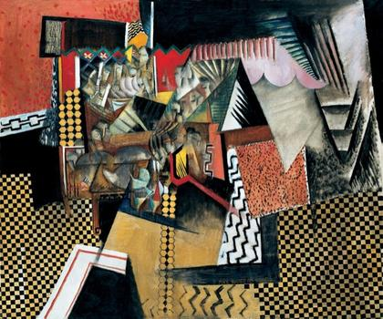 Also at the Whitney: Max Weber's 1915 canvas 'Chinese Restaurant.'