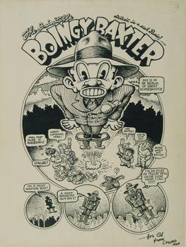 The panel 'Boingy Baxter,' from 'Motor City Comics No. 1,' published in 1969.