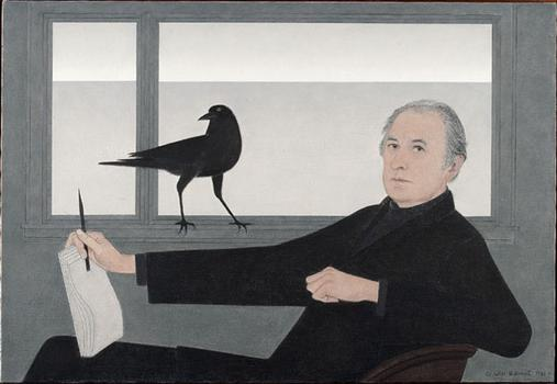 "Will Barnet, who turned 100 years old this past May, painted this self-portrait in 1981. It's part of the ""Will Barnet at 100"" show at the National Academy."