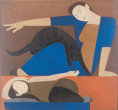 "Another painting by Barnet in the show, ""The Blue Robe,"" from 1962."