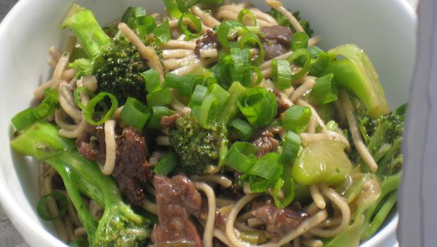 Mark Bittman's Noodles with Broccoli, Beef, and Black Tea Sauce