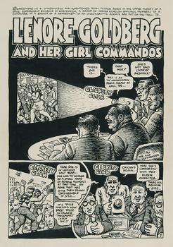 Crumb frequently took on the era's politics and mores (in not always tasteful ways). Above, 'Lenore Goldberg and Her Girl Commandos' from the comic 'Motor City No. 2,' originally published in 1970.